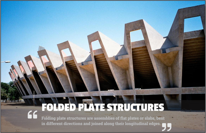 Folded plate structures