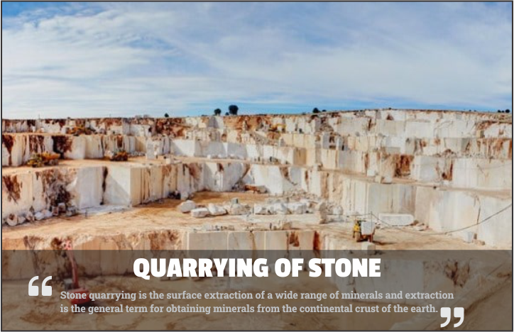 Quarrying of stone